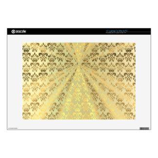 Gold damask skin for laptop