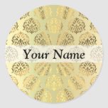Gold damask sticker