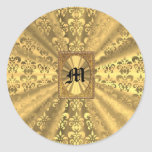 Gold damask stickers
