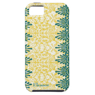 Gold Damask Teal Boho Chic Personalized iPhone SE/5/5s Case