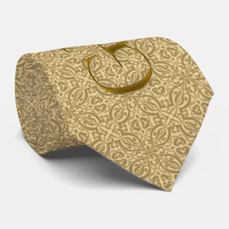 Gold Damask Wedding for the Groom Neck Tie