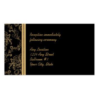 Gold Damask Wedding Reception Cards Business Card