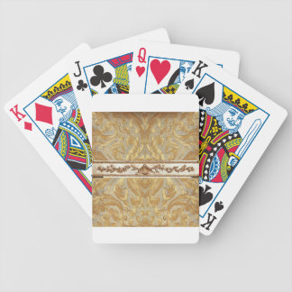 Gold Damask with center border Bicycle Playing Cards