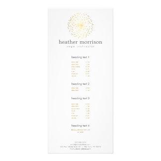 GOLD DANDELION STARBURST LOGO on WHITE Rack Card