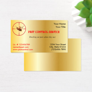 Gold Dead Roach Pest Service 1 Sided  v2 Business Card