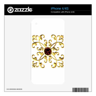 Gold Decals For iPhone 4