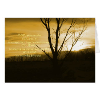 Gold December Night in Pa Serenity Prayer Greeting Greeting Cards