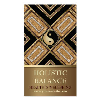 Gold Deco Yin Yang New Age Gold Business Card