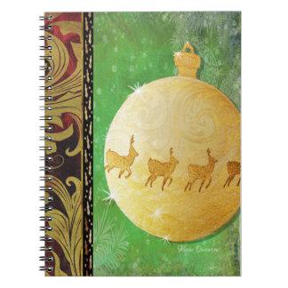 Gold Deer Ornament Notebook