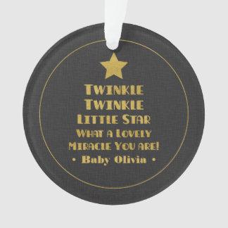 Gold Design Twinkle Twinkle Little Star Nursery Ornament