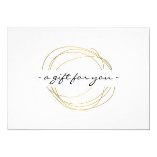 Gold Designer Scribble Gift Certificate 4.5x6.25 Paper Invitation Card