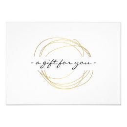 Gold Designer Scribble Gift Certificate Card
