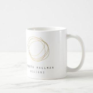 Gold Designer Scribble Personalized Mug