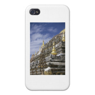 Gold details of temple platform iPhone 4 covers