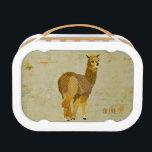 "Gold Diamond Alpaca Lunch Box<br><div class=""desc"">Design by Nicole King &#169;2013</div>"