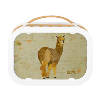 Gold Diamond Alpaca Lunch Box