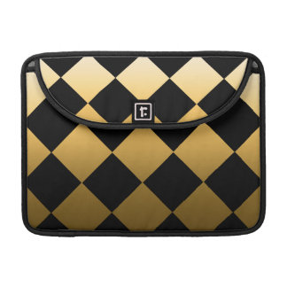 Gold Diamond Checkered Pattern Sleeve For MacBook Pro