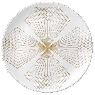 Gold Diamond Flower dinnerplate Plate