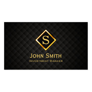 Gold Diamond Investment Banker Business Card