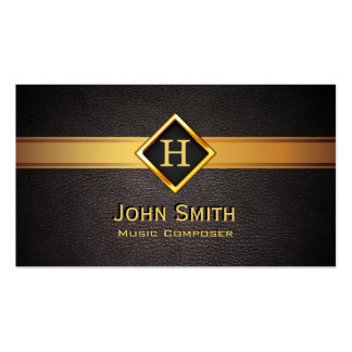 Gold Diamond Label Music Composer Business Card
