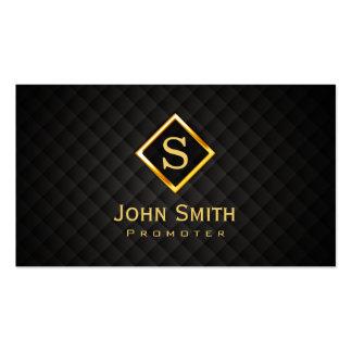 Gold Diamond Monogram Promoter Business Card