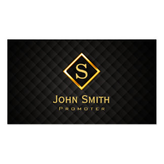 Gold Diamond Monogram Promoter Business Card