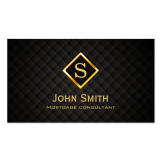 Gold Diamond Mortgage Agent Business Card