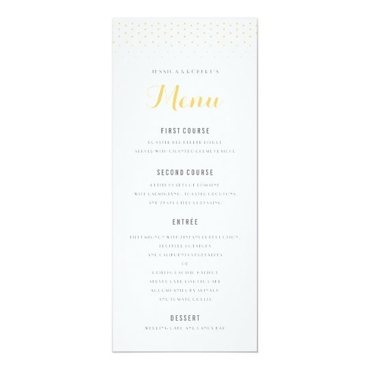 Gold Diamond On White Wedding Menu Template  Formal Dinner Menu Template