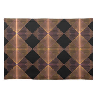 Gold Diamond Pattern Placemat Cloth Placemat