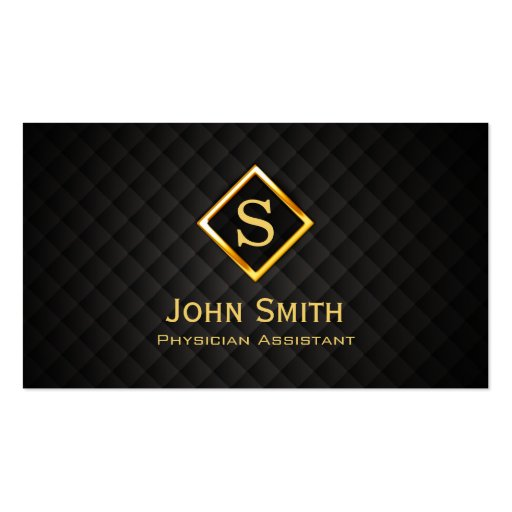 Gold Diamond Physician Assistant Business Card