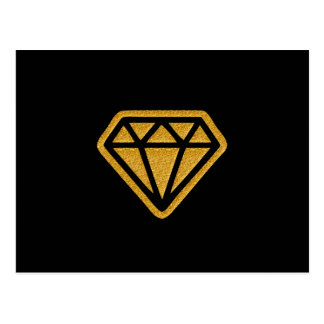 Gold Diamond Postcard