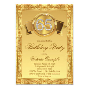 65th birthday invitations zazzle