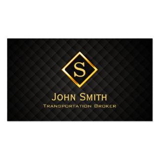 Gold Diamond Transportation Broker Business Card