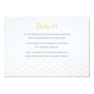 Gold Diamond Wedding Insert Details Card Custom Invitation