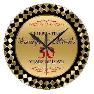 Gold Diamonds And Red Swirls- 50th Anniversary