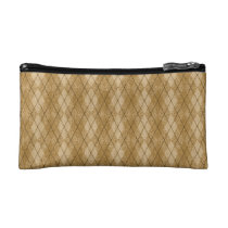 Gold Diamonds Argyle Pattern Cosmetic Bag (Small) at Zazzle
