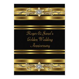 Gold Diamonds Elegant 50th Wedding Anniversary Card