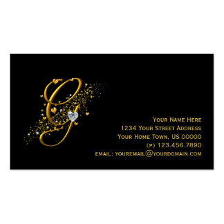 Gold & Diamonds Initial G Stardust Business Card