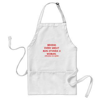 gold digger adult apron