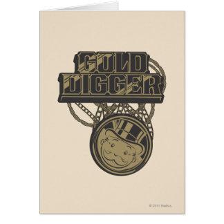 Gold Digger Greeting Card