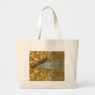 Gold digger large tote bag