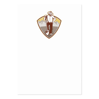Gold Digger Miner Prospector Shield Business Card