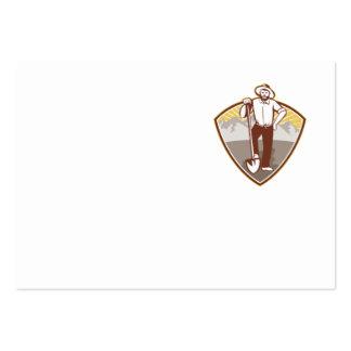 Gold Digger Miner Prospector Shield Business Cards