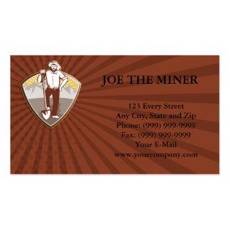 Gold Digger Miner Prospector Shield Business Card Templates