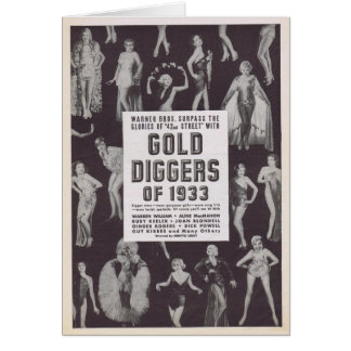 Gold Diggers of 1933 vintage movie ad Card