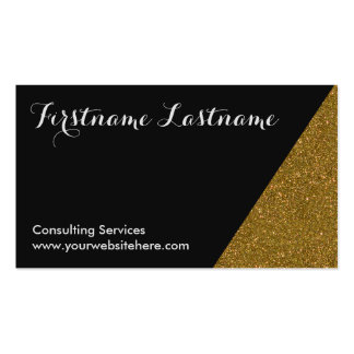 Gold Dipped Glitter Networking Business Cards
