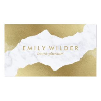 Gold Dipped Marble | Business Card