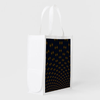 Gold Discs on Blue Reusable Grocery Bag