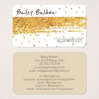 Gold Distressed Foil with Confetti Business Card