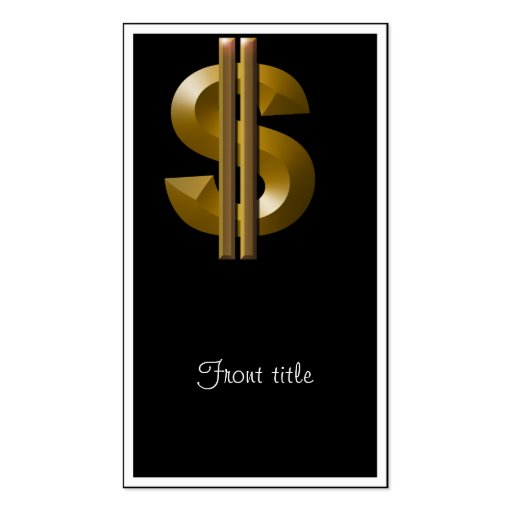 Gold Dollar Sign Double-Sided Standard Business Cards (Pack Of 100)